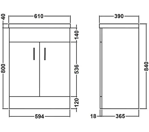 Technical drawing QS-V45073 / NVM103