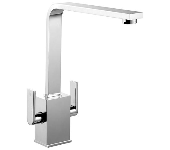 Rangemaster Quadrant Contemporary Monobloc Dual Lever Kitchen Sink Mixer Tap
