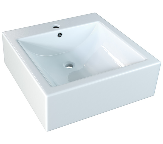 Aqva Clara Square Countertop Basin 475mm - BBD Clara 2