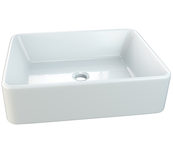 Aqva Charlene Rectangular Countertop Basin 480mm - BBD Charlene
