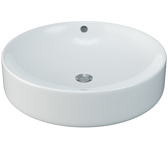 Aqva Stratford Circular Counter Top Basin 450mm - BBD Stratford