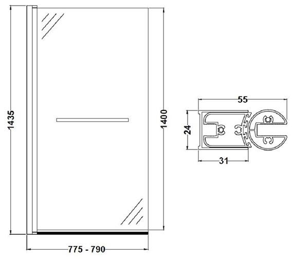 Technical drawing QS-V60410 / NSSQR