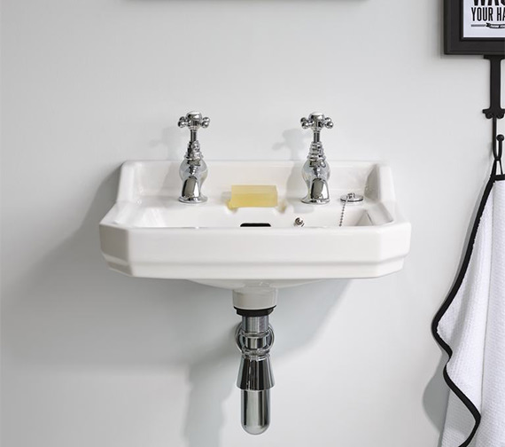 Ideal Standard Waverly 450 x 345mm 2 Tapholes Handrinse Basin