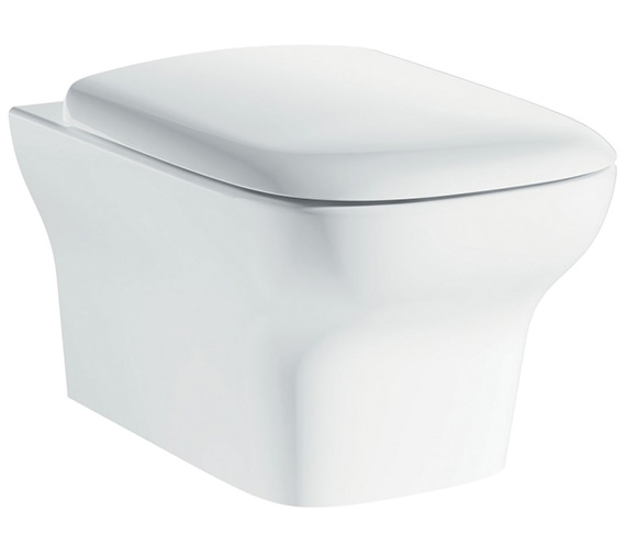 IMEX Grace Rimless Wall Hung WC Bowl And Slow Close Seat 500mm