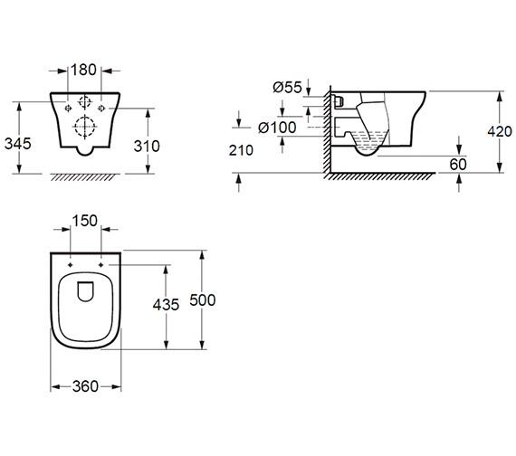 Technical drawing QS-V84450 / CH10134R