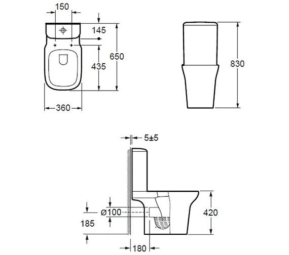 Technical drawing QS-V84449 / C10134CR