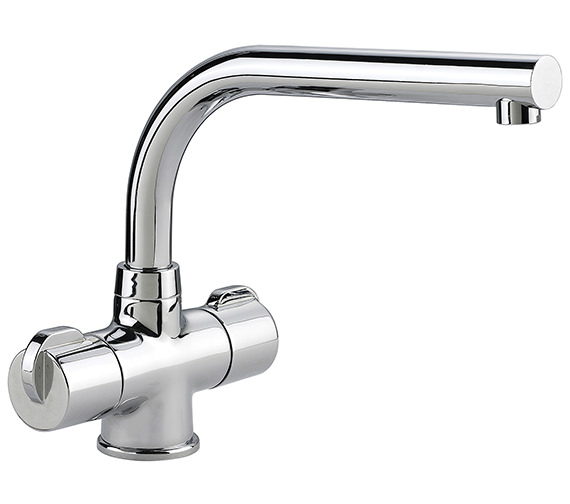 Rangemaster Aquadisc 3 Monobloc Dual Handle Kitchen Sink Mixer Tap
