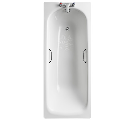 Armitage Shanks Sandringham 21 Steel Bath With Grips - 1700 x 700mm - 2 Taphole