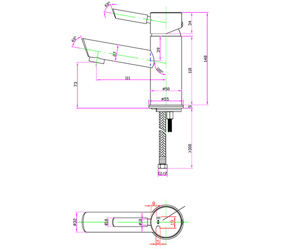 Technical drawing QS-V30340 / RO/106/C