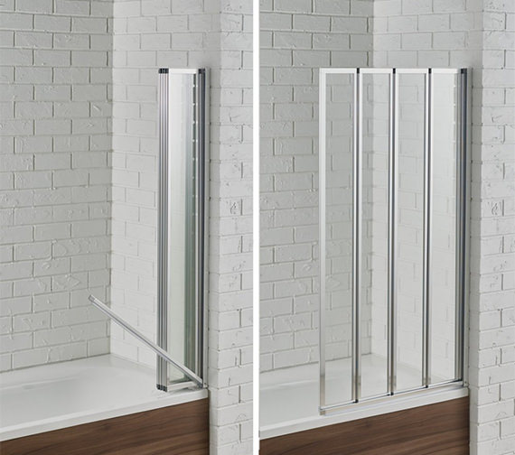 Aquadart Venturi 6 Swiftseal 4 Fold Bath Screen 800 x 1400mm