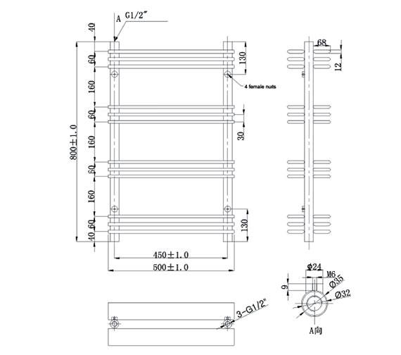 Technical drawing QS-V6596 / EA903