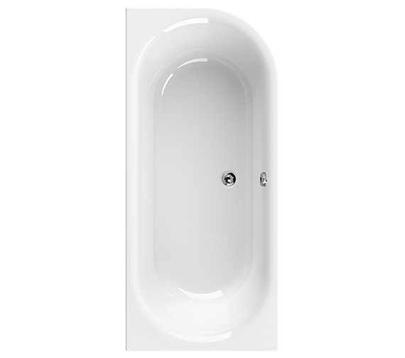 Aquaestil Metauro 2 Right Hand 1800 x 800mm Bath - 154METAURO2RH1880