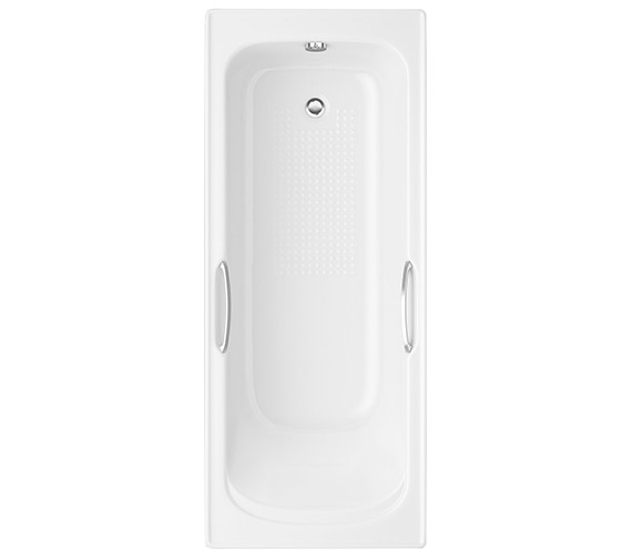 Trojan Granada 1675 x 700mm 8mm Acrylic Bath With Grips NTH
