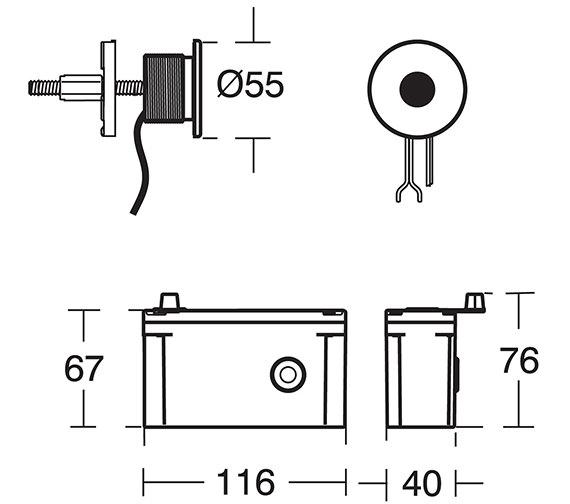 Technical drawing QS-V77862 / A4186AA