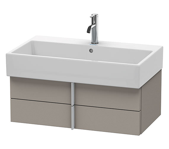 Duravit Vero Air 784 x 431mm 2 Drawer Vanity Unit - Terra
