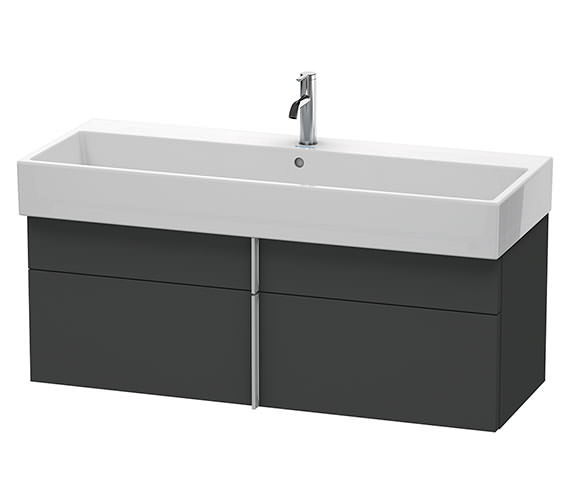 Duravit Vero Air 1184 x 431mm 1 Drawer And 1 Pull-Out Compartment Unit