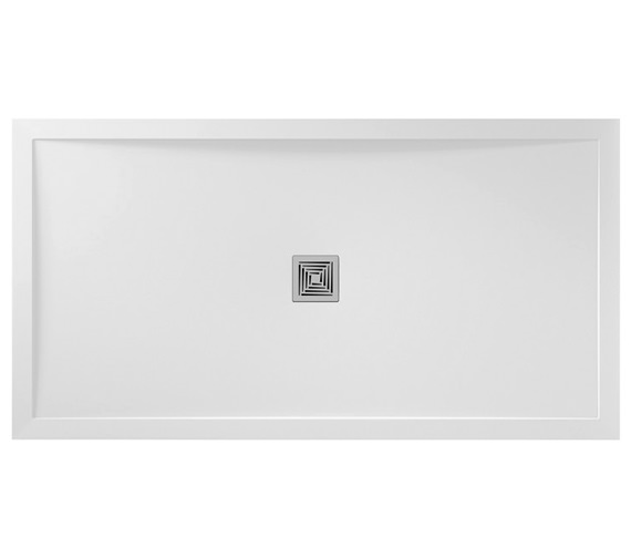 Aquadart Aqualavo 1200 x 900mm Rectangular White Gloss Shower Tray