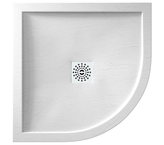 April Waifer Quadrant Slate Effect White Shower Tray