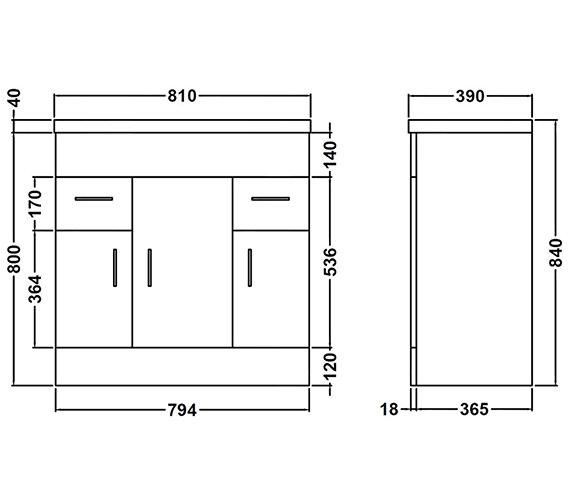 Technical drawing QS-V54823 / NVM105