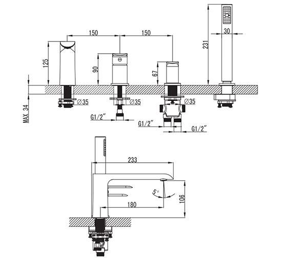 Technical drawing QS-V81415 / DG010