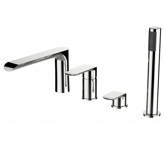 Phoenix Darling 4 Holes Bath Shower Mixer Tap With Pull Out Hand Shower
