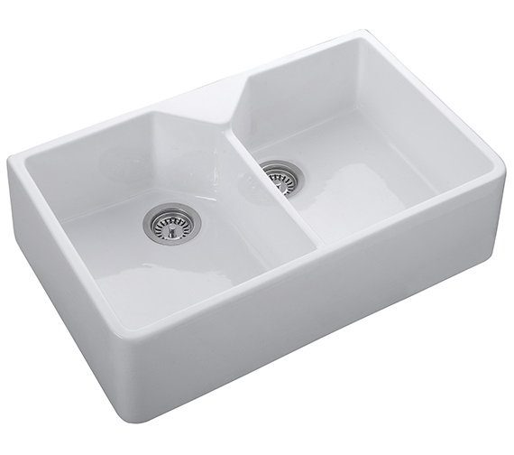 Rangemaster Belfast 800 x 490mm Fire-Clay Ceramic 2.0 Bowl Undermount Sink