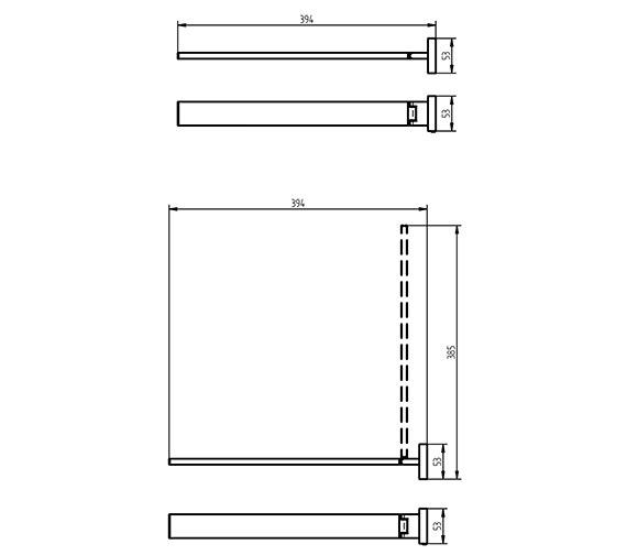 Technical drawing QS-V7097 / 1190801