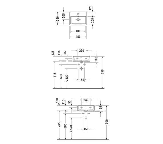Technical drawing QS-V33550 / 0724450060