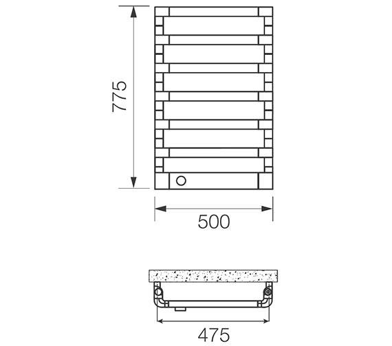 Technical drawing QS-V83137 / STE025077050