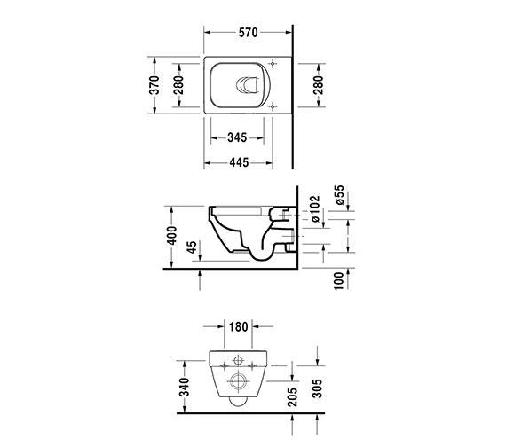 Technical drawing QS-V33555 / 2525090000