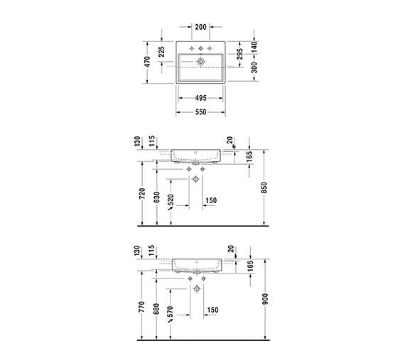 Technical drawing QS-V33553 / 0382550060