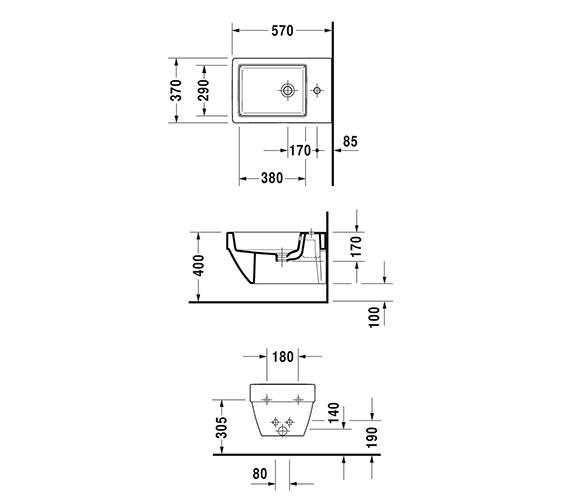Technical drawing QS-V33554 / 2274150000