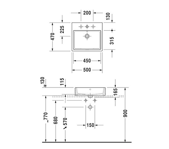 Technical drawing QS-V33556 / 2352500060