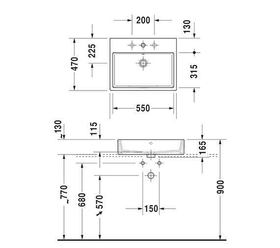 Technical drawing QS-V33556 / 2352500060