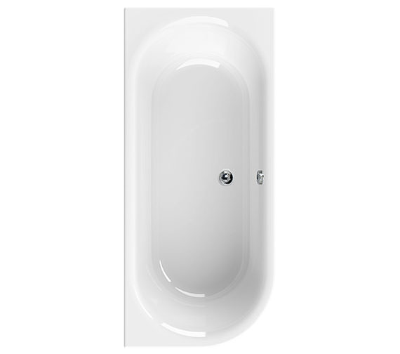 Aquaestil Metauro Double Ended Right Hand Acrylic Bath 1800 x 800mm