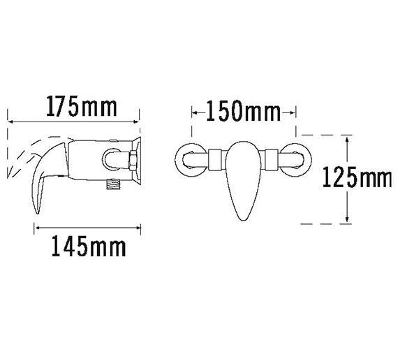 Technical drawing QS-V31390 / 65100