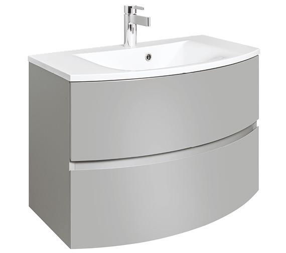 Bauhaus Svelte 800mm Storm Grey Wall Hung Vanity Unit And