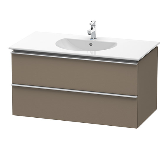 Duravit Darling New 1000mm 2 Drawers Terra Vanity Unit With Basin