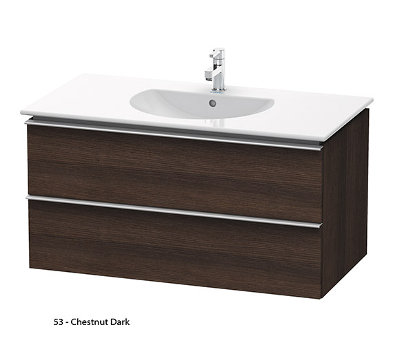 Additional image of Duravit Darling New 1000mm 2 Drawers Terra Vanity Unit With Basin