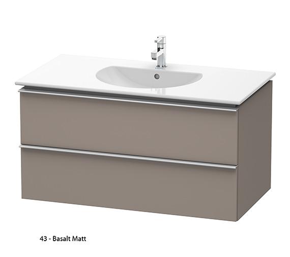Alternate image of Duravit Darling New 1000mm 2 Drawers Terra Vanity Unit With Basin