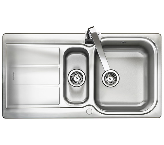 Rangemaster Glendale 950 x 508mm Stainless Steel 1.5B Inset Kitchen Sink