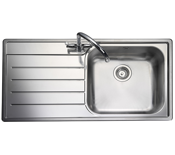 Rangemaster Oakland 985 x 508mm Stainless Steel 1.0B Inset Kitchen Sink