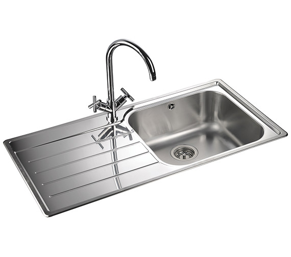 Additional image of Rangemaster Oakland 985 x 508mm Stainless Steel 1.0B Inset Kitchen Sink