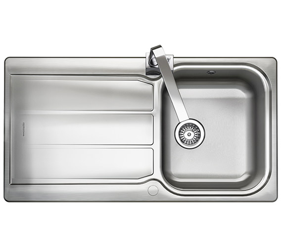 Rangemaster Glendale 950 x 508mm Stainless Steel 1.0B Inset Kitchen Sink