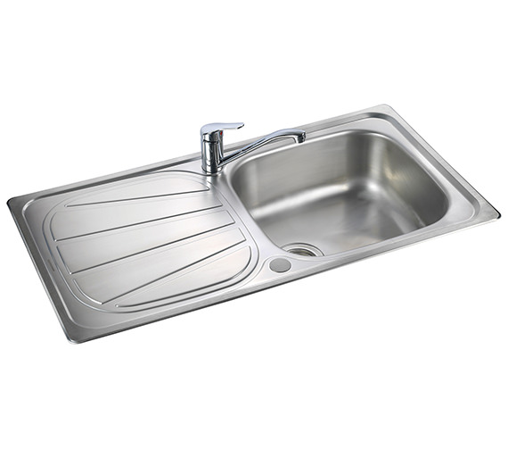 Additional image of Rangemaster Baltimore Compact 800 x 508mm Stainless Steel 1.0B Inset Sink
