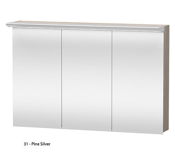 Additional image of Duravit Darling New 1200mm 3 Door Mirror Cabinet - DN753801414