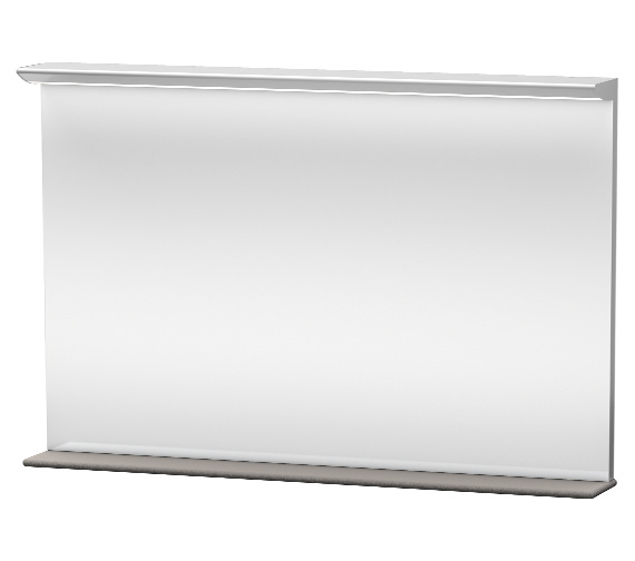 Duravit Darling New 1200mm Mirror With Lightning And Wooden Shelf