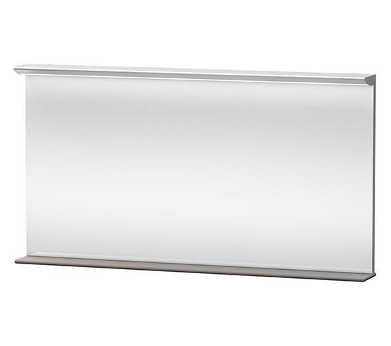 Duravit Darling New 1500mm Mirror With Lightning And Wooden Shelf