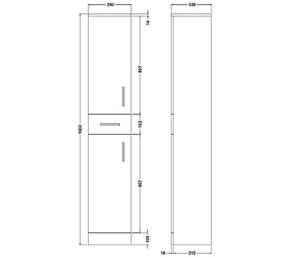 Technical drawing QS-V54825 / PRC164