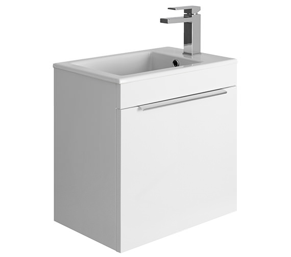 Crosswater Zion 500mm White Gloss Wall Hung Drawer Unit And Basin